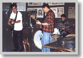 The Dino Club, a.k.a. Mark, Mike and Bob perform at the Tinker's Nest