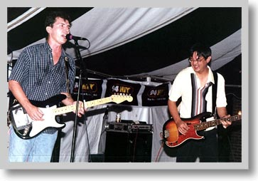 Mark and Mike jam at the Waterfront Festival -- September 2000
